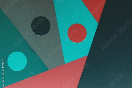 Abstrakcyjne kształty tła papieru rzemiosła z wyciszonymi ciemniejszymi tonami