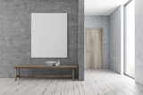 Bench in modern bathroom, poster
