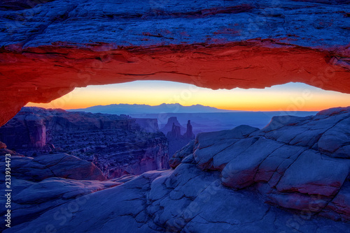 Sunrise at Iconic Mesa Arch in Canyonlands National Park