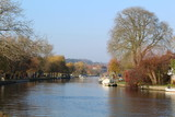 the river thames in autumn