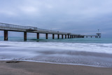 The Pier of Burgas in cold winter morning. Symbol of Burgas.  © Hristo