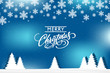Blue Merry Christmas card.