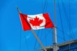 Canadian Flag on Ship in Halifax