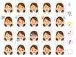 女性�20種類�表情 会社員 OL