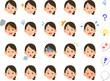 髪を縛��女性�20種類�表情 会社員 OL