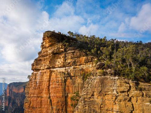 Sheer cliffs of Burramoko Head Balzer Lookout - 234035828
