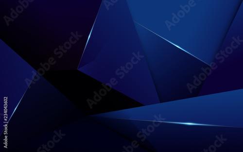 Abstrakcjonistyczny poligonalny deseniowy luksusowy zmrok - błękitny tło