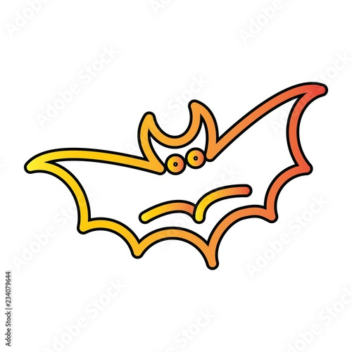 Vector Bat Icon In Creative Design With Elements For Mobile And Web Lictions Modern Trend