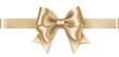 Decorative platinum bow with horizontal ribbon isolated on white background. Holiday decoration. Vector illustration