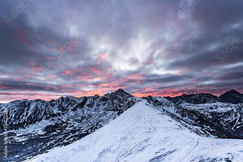 Świt w Tatrach