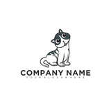 Simple minimalistic modern professional logo design of animal pet vector EPS illustrator template © optimus23