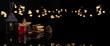 Leinwandbild Motiv Punsch mit Lebkuchen und Lichter