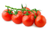 tomato cherry isolated on white background, clipping path, full depth of field