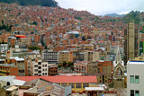 Stunning aerial view of La Paz, the highest capital city in the world, Bolivia, South America  - 234151212