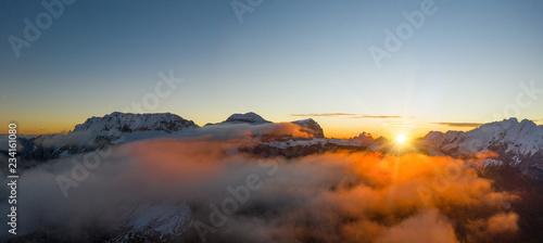 fototapeta na ścianę Beautiful autumn landscape in the Dolomites mountains.