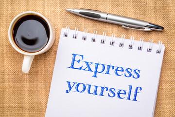 Express yourself inspiraitonal writing © MarekPhotoDesign.com
