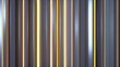 Glossy and shiny vertical bars 3D render