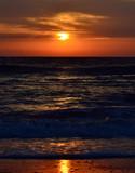 Dramatic sunrise at the ocean
