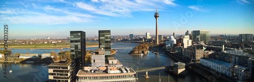 Panorama Medienhafen Düsseldorf von oben - 234233225