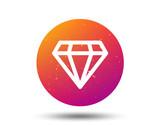 Diamond icon. Jewelry gem sign.