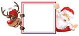 Weihnachtsmann Rudolph Schild rote Muetzen - 234251400
