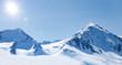 canvas print picture - Winter im Hochgebirge