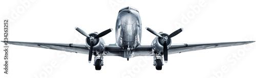 Leinwandbild Motiv historical aircraft isolated on a white background