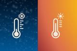 kleines dekoratives Thermometerset - 234269043