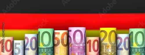 Leinwandbild Motiv Deutschland & Geld