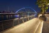Dubai city skyline at night. view of Tolerance bridge © Ioan Panaite