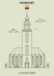 St. Catherine's Church in Frankfurt, Germany. Landmark icon