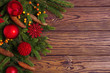 Quadro Christmas background with fir branches