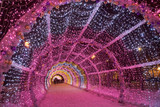 Light tunnel at Tverskoy boulevard in Moscow. Russia