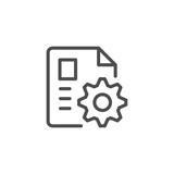 Document settings line icon