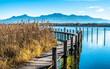 Leinwanddruck Bild - lake chiemsee - bavaria