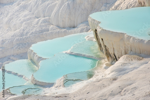 Pamukkale, natural pool with blue water, Turkey - 234325231