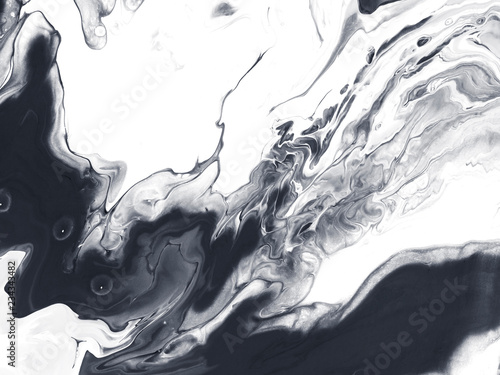 Black and white creative abstract hand painted background. © Artlu