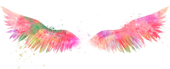 magic watercolor wings © Евгения Савченко
