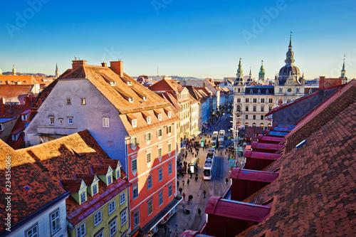 Graz market cityscape and cityscape view