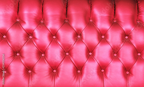 Pink leather capitone background texture - 234356236
