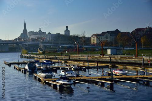 Szczecin marina on the Łasztownia waterfront.