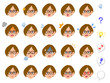 眼鏡をかけた女性の20種類の表情 会社員 キャリアウーマン 秘書