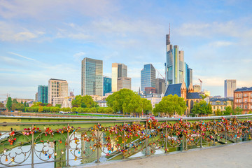 View of Frankfurt city skyline