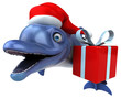 Fun Dolphin - 3D Illustration - 234430819