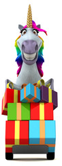 Fun unicorn - 3D Illustration © Julien Tromeur