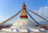 temple in Bodnath, Kathmandu, Nepal