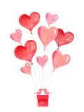 Happy Valentine's day watercolor vector illustration. - 234489416