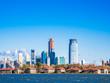 アメリカ エリス島移民博物館とジャージーシティの摩天楼
