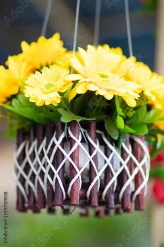bouquet of flowers in a pots - 234509061
