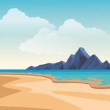 Beach and island scenery - 234511412